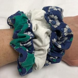 💙Bundle of Handmade Floral Print Scrunchies